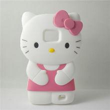 cute cartoon 3d hello kitty soft silicone case for samsung galaxy s2 s ii i9100