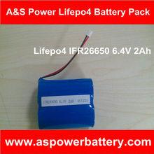 Lifepo4 26650 Model 6.4V 3200mAh Lifepo4 Battery