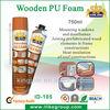 Polyurethan-Schaum-Spray/soundproofing PU spray sealant manufacturer/factory 500ml/750ml (ROHS certificate)