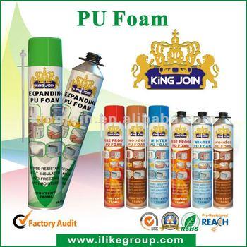 schiuma di poliuretano a spruzzo/soundproofing PU spray sealant manufacturer/factory 500ml/750ml (ROHS certificate)