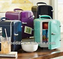 4l portable mini car and home use cooler warmer 6 cans mini fridge