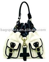Fashion handbag women' s handbags drawstring bag handbag with pockets china supplier FJ14-196