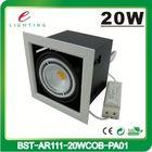 High power indoor light cob 20w led ar111 24v dimmable with external driver cob led ar111