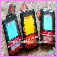 Hot sale! colorful new design plastic PET/PVC material mobile phone case packaging box
