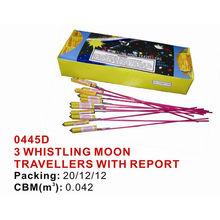 0445D 3 Whistling Moon Travellers fireworks Small bottle rocket fireworks