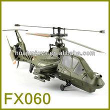 2013 mais novo! Venda quente FX060 2.4 g único balde 4ch rc helicóptero com giroscópio, Brinquedos helicóptero