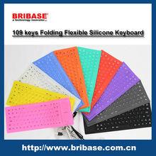 Wholesale foldable silicone Waterproof keyboard