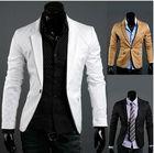 New Men's Casual Slim Stylish fit One Button Suit Blazer Coat Jackets black/khaki/white M-XL X11