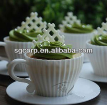 teacup shaped silicone cake mould