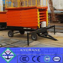 SJY0.8-12m electric mobile scissor lift table 300kg