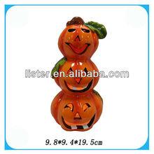 2013 Funny Ceramic Halloween Pumpkin With White light