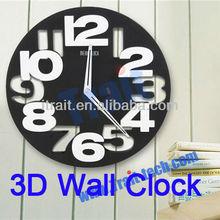 Modern Round Circle Arabic Numerals 3D Wall Clock