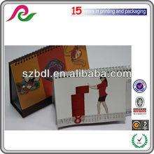 custom table and desk calendar design of cheap price high quality