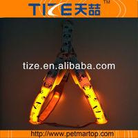 Retractable pet belt led harness TZ-PET3405 hot sale dog harness