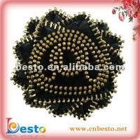 Sole chain shoe flower with zipper material for handbag