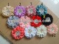tf001 varios colores de lujo hechos a mano hermosa chic de tela de gasa de flores para baby