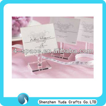 clear acrylic place card holders for wedding