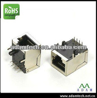 RJ45 connector 8pin female connector with 90 degree