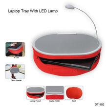 Factory wholesale portable laptop bean bag lap desk with LED lamp,laptop bag