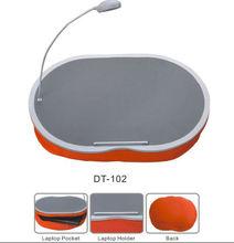Factory wholesale multifunctional laptop craft lap tray,led lamp,laptop bag