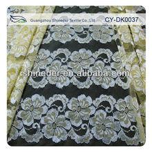 Ivory Lace Trim Fabric Garment