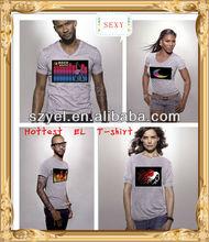 Hip Hop Concert Wholesale Price Couples Dress Design Led/EL T-shirts for men/kids/ladies online shopping