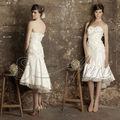 Doce fantasia- coração tafetá tulle frisada handmade flores vestido de noiva curto 2013