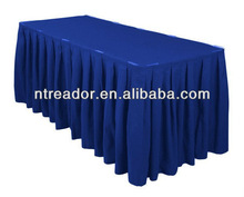 17ft accordion pleat polyester table skirt royal blue
