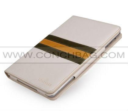 2014 CONCHBAG! luxury cases for ipad mini 3,stripes splice style case for ipad mini3