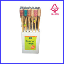Floor Printing stand POP paper display unit for Bamboo torch
