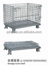 stackable folding steel wire mesh storge cage