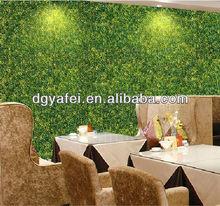 Grass wall, fake grass,Plastic Milan grass wall