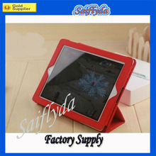 For ipad 2 smart cover pu leather stand covers