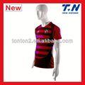 las niñas rojo camiseta de fútbol camisetas de fútbol