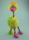 Pet plush toy bird with rope legs