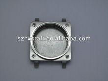 Para hombre de la plaza de la cara del reloj material ss 316l partes de relojes cajas piezas mecanismo