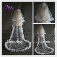 2013 Designer Two Layer Floor Length Tulle Bridal Veil Wedding Veils GJ-008