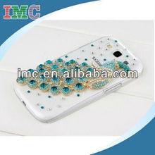 Deluxe handmade peacock crystal diamond rhinestone hard case skin for Samsung Galaxy S3 i9300 phone-IMC-TOSAM-002788