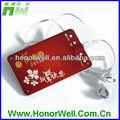 بطاقة حمراء مع سماعة mp3 وخالية من فصل الصيف الحار