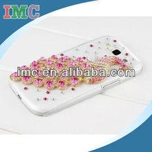 Deluxe handmade peacock crystal diamond rhinestone hard case skin for Samsung Galaxy S3 i9300 phone-IMC-TOSAM-002890