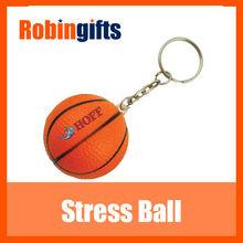 Key ring basketball stress ball