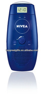 NIVEA FM shower water resistant radio with clock in shampoo bottle shape for promotion