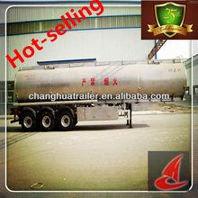 42.6CBM,3 Axle,Aluminum tanker semi-trailer with flatbed truck dimensions