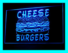 110184B Cheese Burgers Bakery Bake Fast Food Cheese Beef Display LED Light Sign