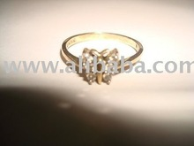 Various kinds of gold jewelries