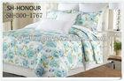 blue polyester filled patchwork quilt/bedspreads full size