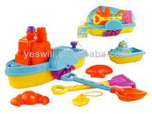 Colourful summer toys plastic mini light boat sand beach toys for kids