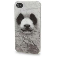 Animal Series Panda Pattern Plastic Case for iPhone 4