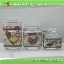 Vasilha de vidro com tampa, Para américa do norte mercado