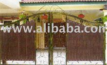 Wrought iron folding gate 3